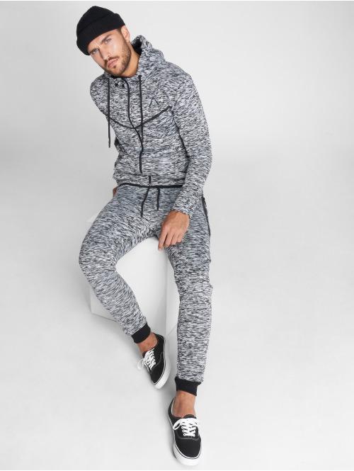 VSCT Clubwear Zip Hoodie Melange Techfleece grau