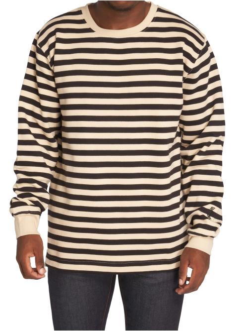 Wemoto Pullover Lawrence Stripe schwarz