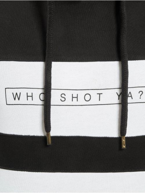 Who Shot Ya? Hoody Black And White schwarz