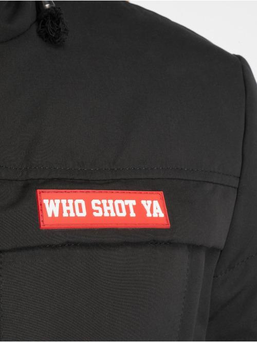 Who Shot Ya? Winterjacke Battle Bass schwarz