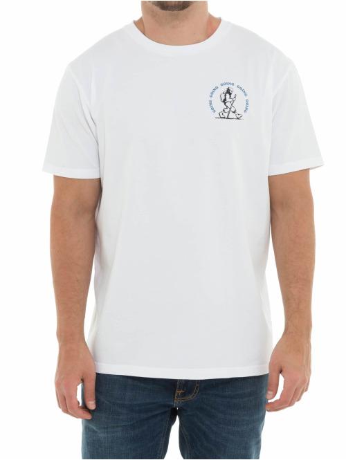 Wood Wood T-Shirt Gone Hiking weiß