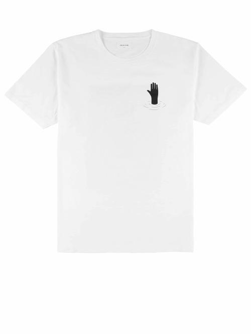 Wood Wood T-Shirt Hand weiß
