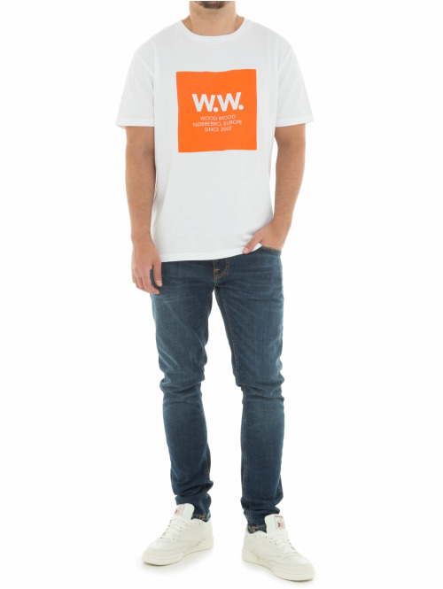 Wood Wood T-Shirt Square weiß