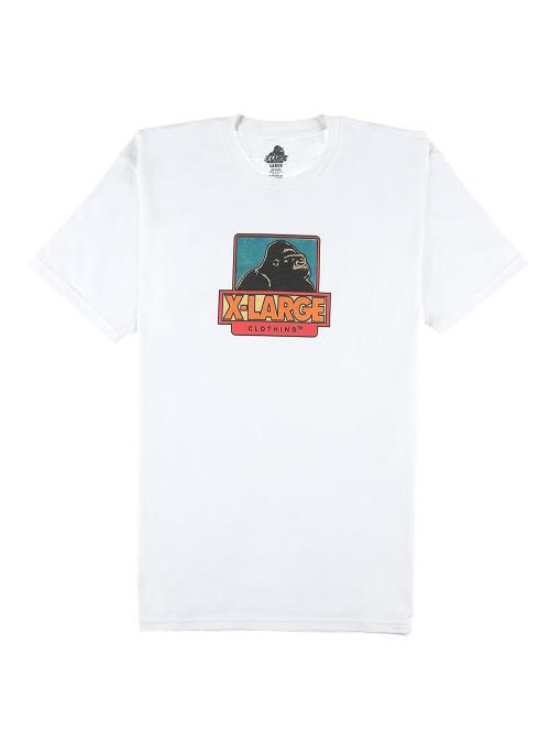 X-Large T-Shirt Strip Og weiß