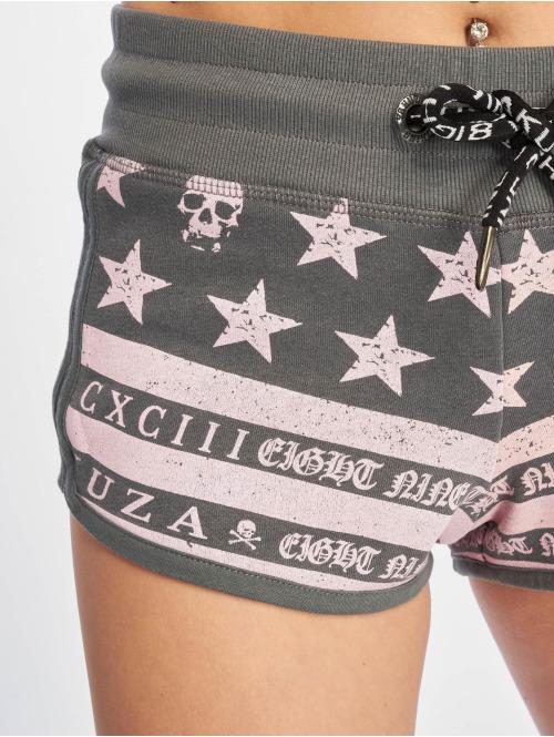 Yakuza Shorts Skull N Stars grau