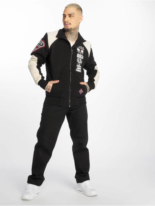 Yakuza Übergangsjacke Lily Skull Two Face Training schwarz