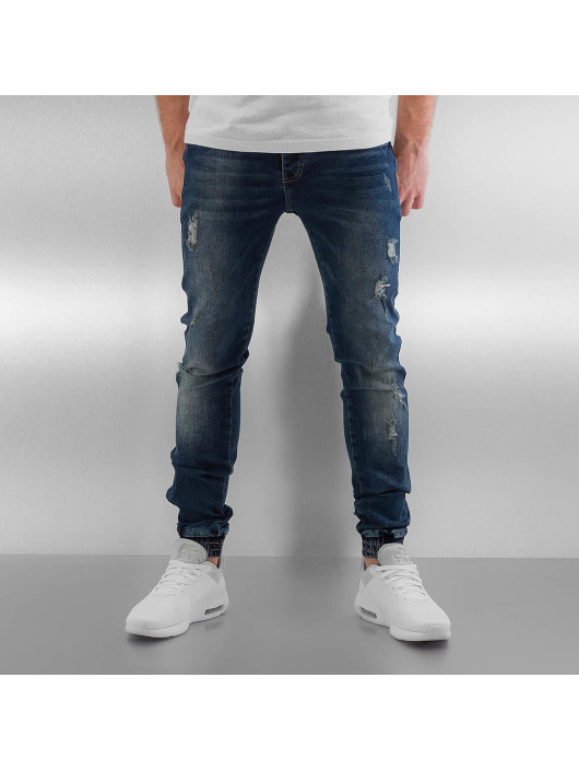 Herren Sixth June Männer Skinny Jeans Elasticated blau | 3614320091425