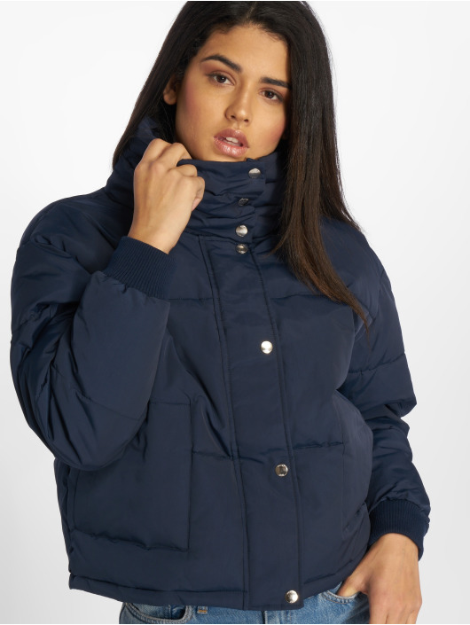 Damen Noisy May Frauen Puffer Jacket nmMorris blau | 5713619222965