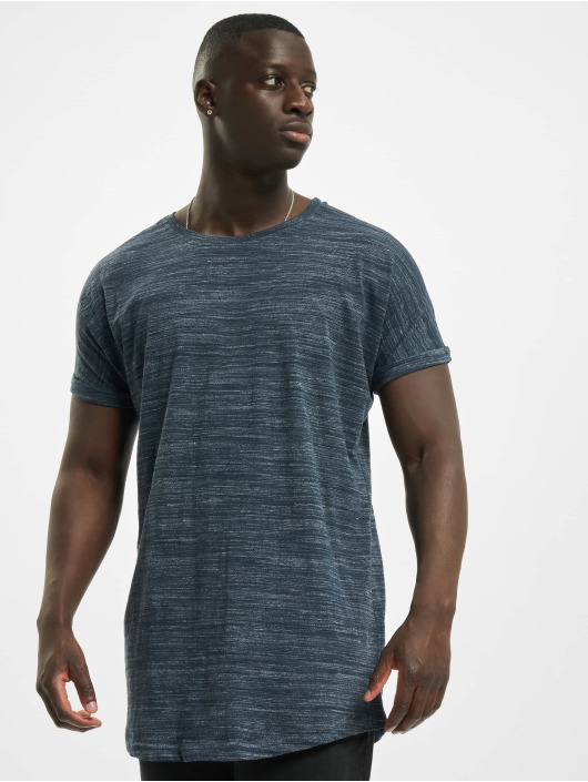 Herren Urban Classics Männer T-Shirt Long Space Dye Turn Up blau | 4053838202159