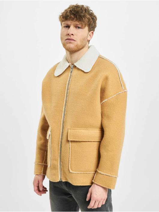 Herren Urban Classics Männer Übergangsjacke Bonded Oversized Sherpa beige | 4053838205440
