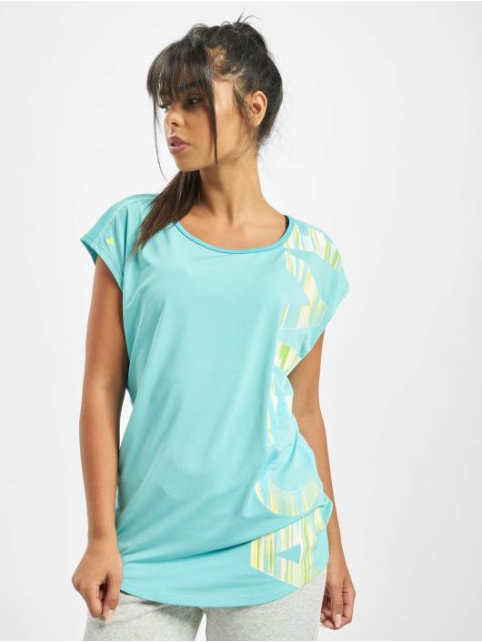 Damen Just Rhyse Frauen T-Shirt Mataura Active blau | 4059753173468
