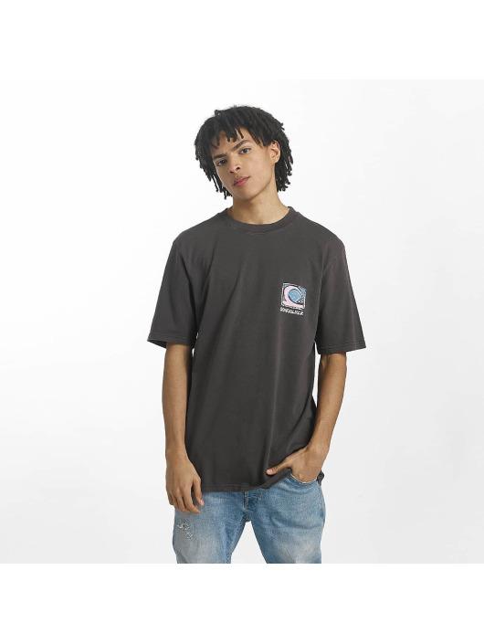 Herren Quiksilver Männer T-Shirt Durable Dens Way grau | 3613373397256