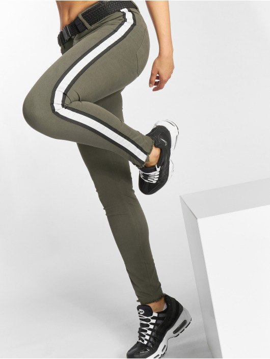 Damen Just Rhyse Frauen Skinny Jeans Giny olive,grün | 4059753230048