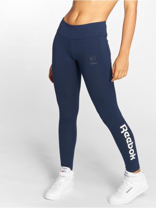 Damen Reebok Frauen Legging F Logo blau | 4060513385540