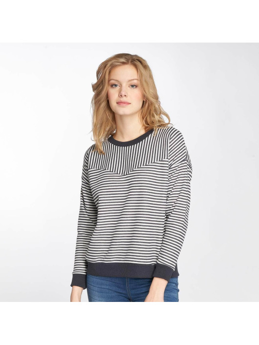 Damen Sublevel Frauen Pullover Striped blau | 4058427441254