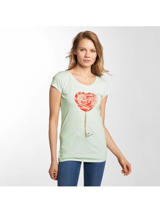 Damen Fresh Made Frauen T-Shirt Basic grau | 4058427471503