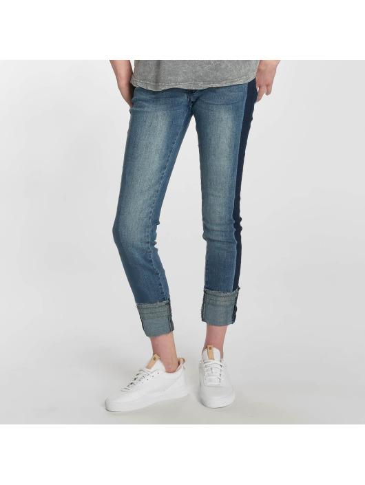 Damen Sublevel Frauen Skinny Jeans Stripe blau | 4058427469173