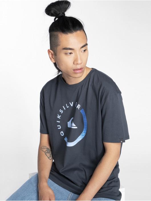 Herren Quiksilver Männer T-Shirt Slab Session blau | 3613373885609