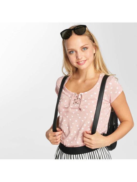Damen Sublevel Frauen T-Shirt Hearts rosa | 4058427077507
