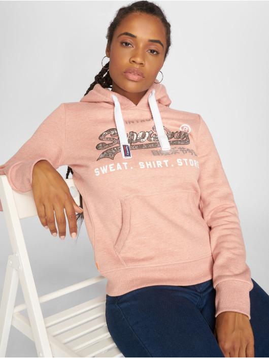 Damen Superdry Frauen Hoody Shop Sequin Entry rosa | 5057101823002