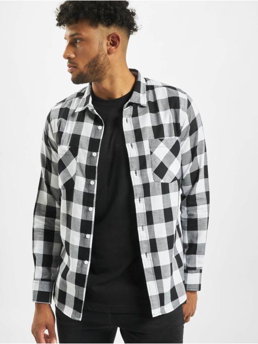 Herren Urban Classics Männer Hemd Checked Flanell weiß | 4051243091320