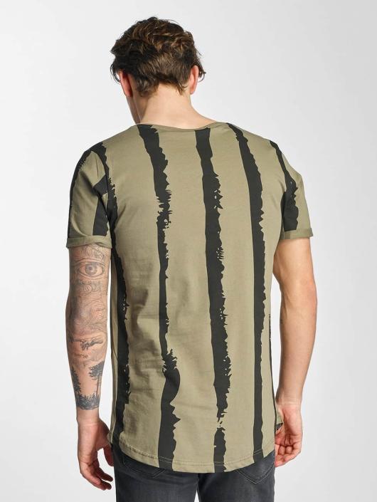 2Y T-shirts Stripes khaki
