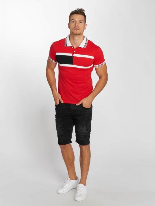 Aarhon Koszulki Polo Block Stripes czerwony