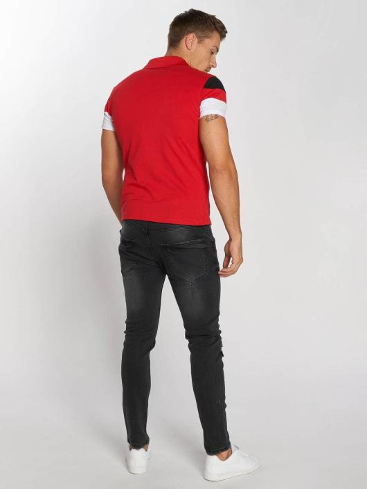 Aarhon Koszulki Polo Tricolor czerwony