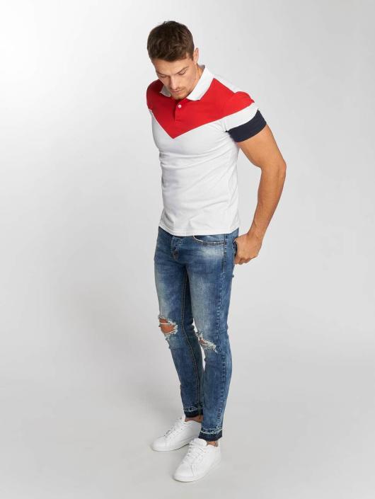Aarhon Polo Tricolor blanc