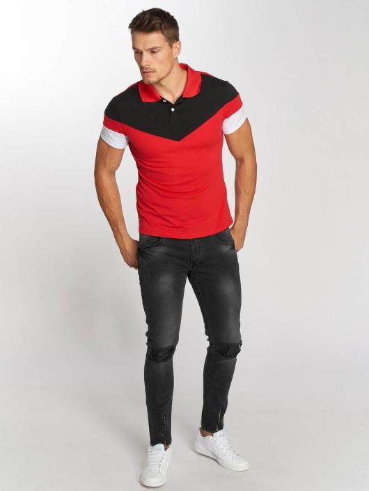 Aarhon Polo Tricolor rouge