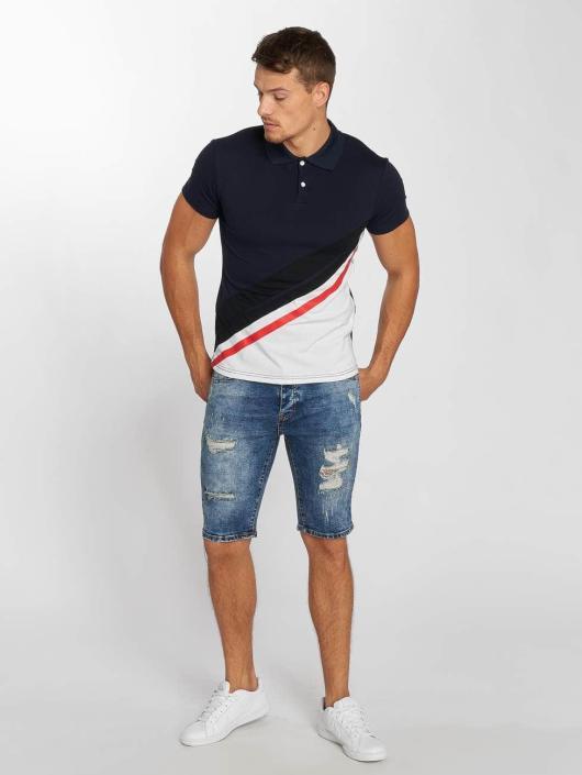 Aarhon Poloshirt Diagonal blau