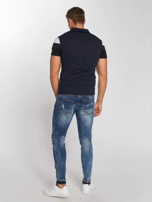 Aarhon Poloshirt Tricolor blue