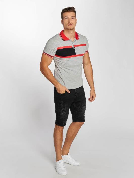 Aarhon Poloshirt Block Stripes grau