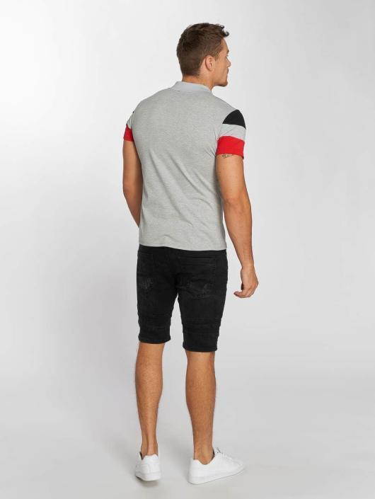 Aarhon Poloshirt Tricolor grau