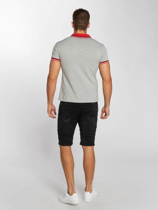 Aarhon Poloshirt Block Stripes gray