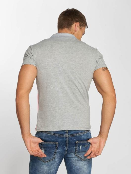 Aarhon Poloshirt Diagonal gray