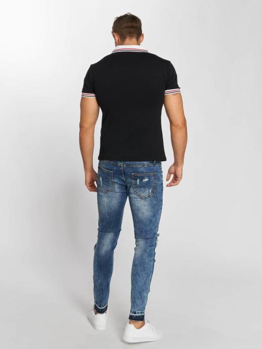 Aarhon Poloshirt Block Stripes schwarz