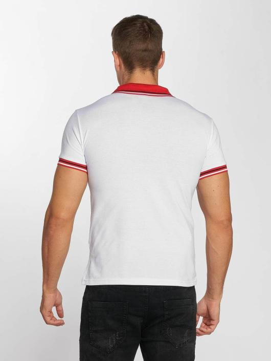 Aarhon Poloshirt Block Stripes weiß