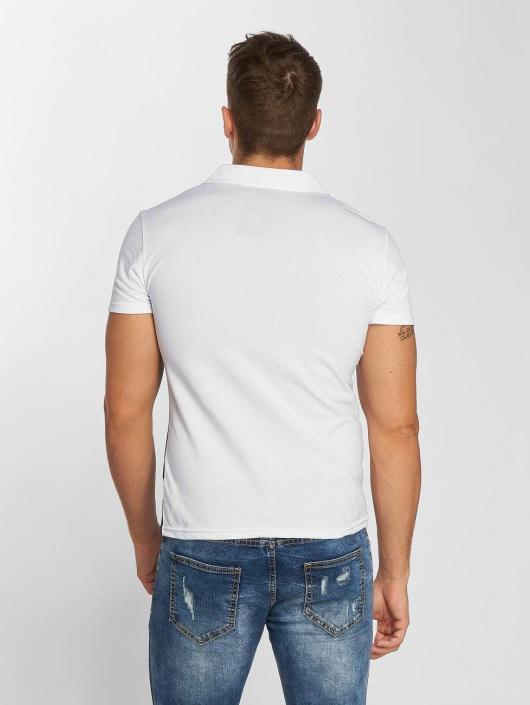 Aarhon Poloshirt Diagonal weiß