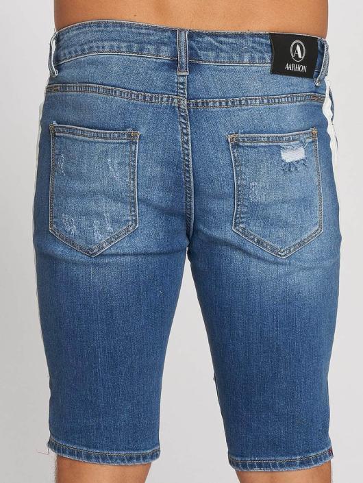 Aarhon Shorts Stripe blå