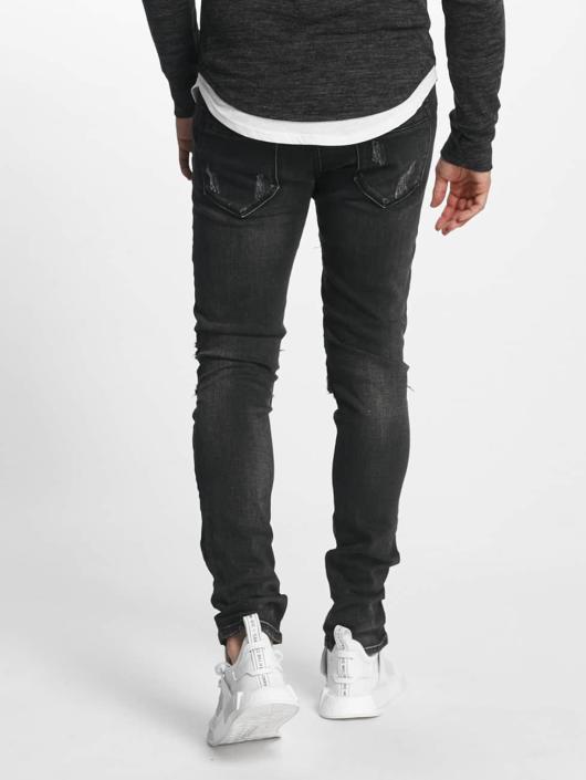 Aarhon Slim Fit -farkut Italio musta