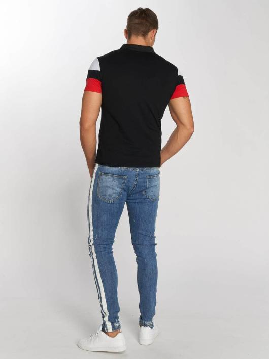 Aarhon Slim Fit Jeans Stripes modrá
