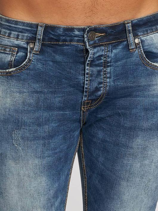 Aarhon Straight Fit farkut Washed sininen