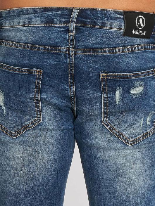 Aarhon Straight Fit Jeans Washed blau