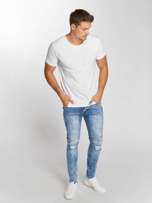 Aarhon Straight Fit Jeans Washed modrý
