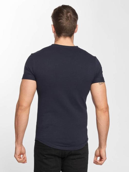 Bleu 480707 Print Homme Flower shirt Aarhon T SzqMVUp