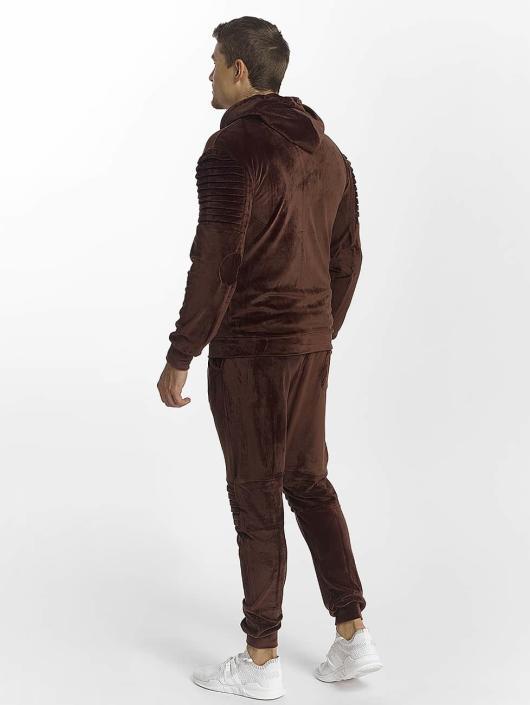 Aarhon Trainingspak Velour bruin
