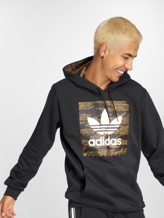 adidas originals Bluzy z kapturem Camo Bb Hoodie czarny
