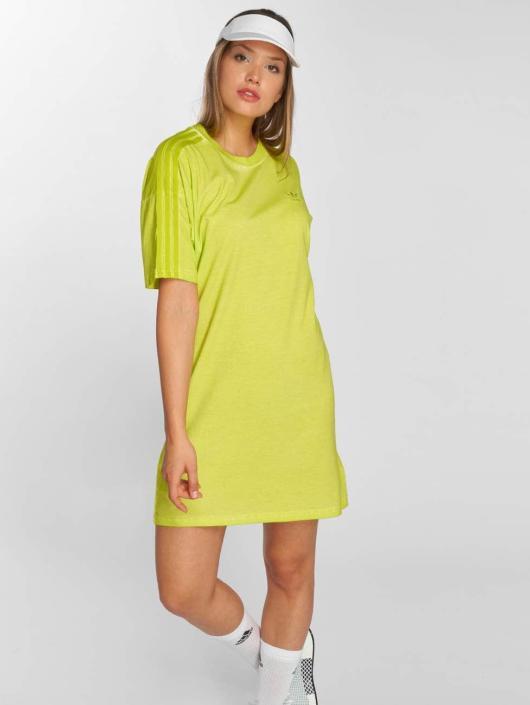 adidas originals Kleid Long Neon gelb