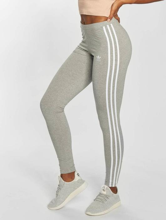 b07a8a35be2 adidas originals Damen Legging 3 Stripes in grau 436011